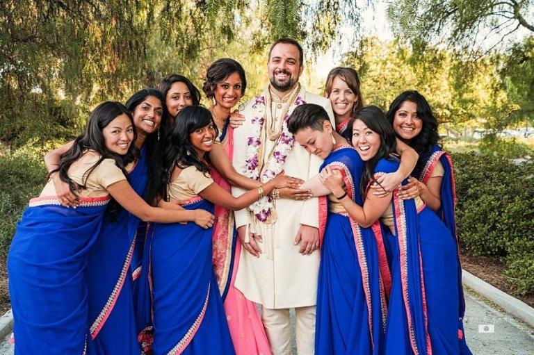 Indian-wedding-Taylor-Avni-Paul-Gero-Photography-South-Asian-wedding-bridesmaids-saris-varmala