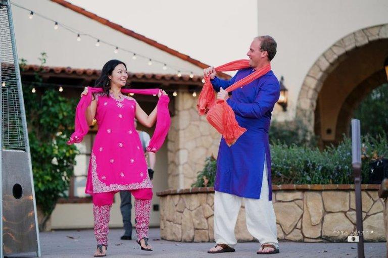 Oak-Creek-Irvine-Indian-wedding-Hindu-ceremony-reception-DJ-Nick-Datwani-outdoor-wedding-South-Asian-wedding-bridal-party-salwar-kameez-kurta-dancing-Avni-Taylor