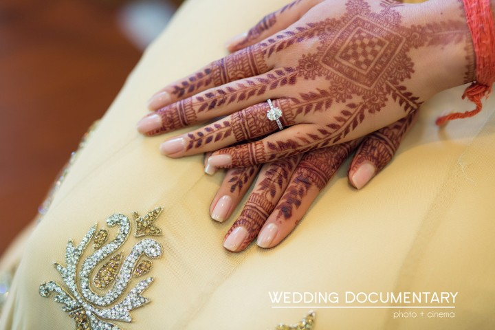 Indian bride's mehndi on her hands