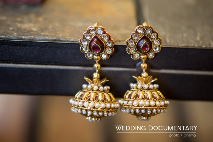 Indian wedding earrings, jhumkas