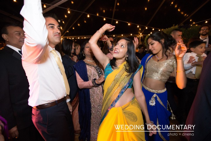 Guest dancing at an Indian wedding reception