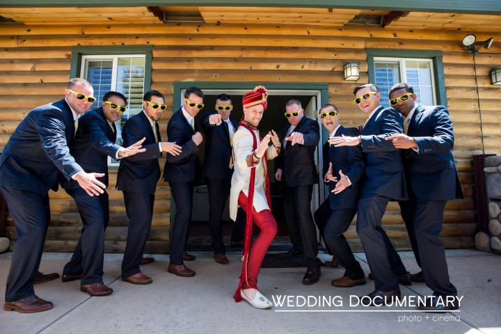 Sipra_Kevin_Funny-wedding-photography-dulha-groom-sera-sherwani-baraat-sunglasses-Hindu-wedding-karate-chop