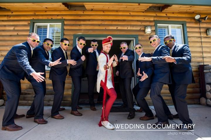 Sipra_Kevin_Funny-wedding-photography-dulha-groom-sera-sherwani-baraat-sunglasses-Hindu-wedding-karate-chop