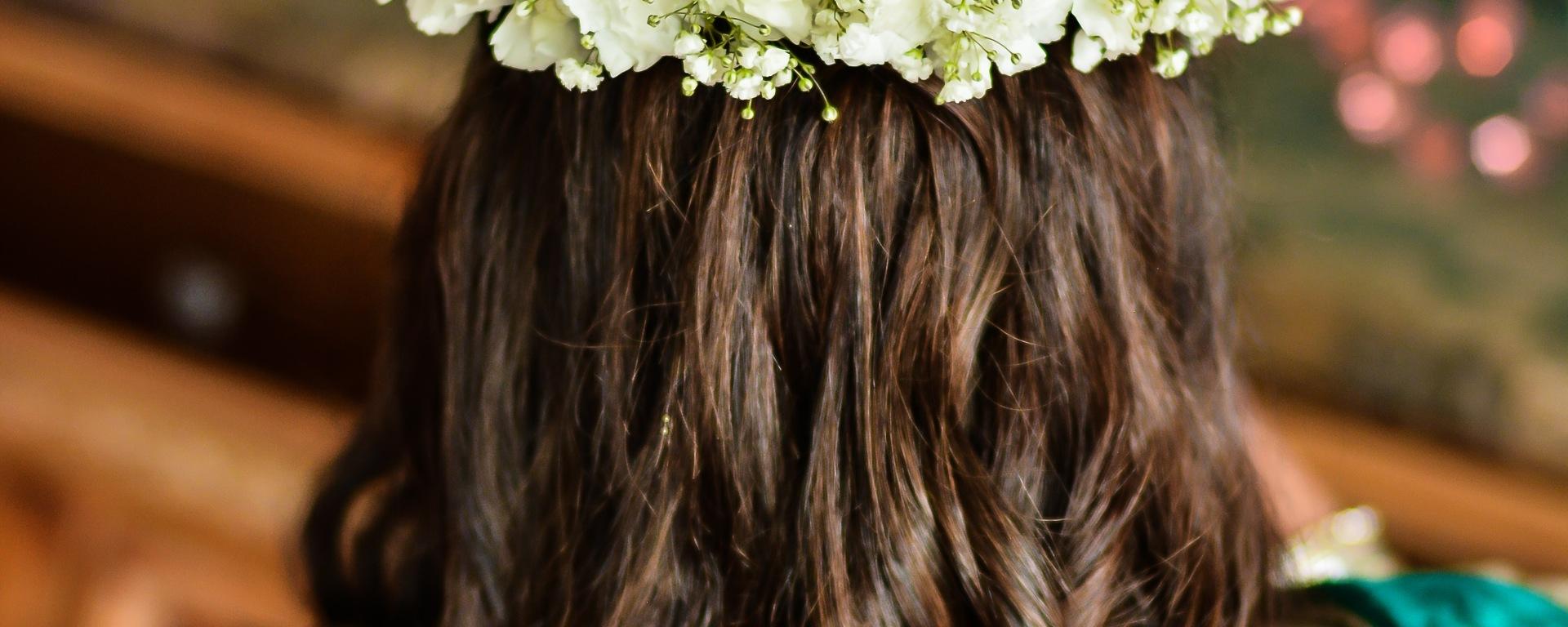 Indian bride's hair and makeup at her mehndi
