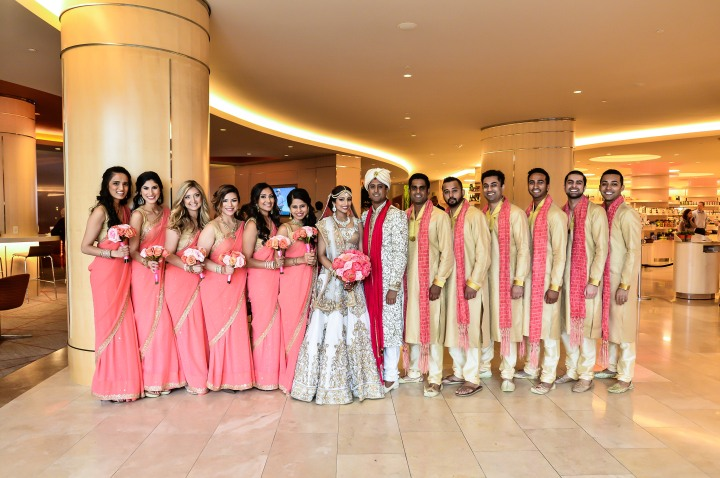 Bridal party photo at an Indian wedding