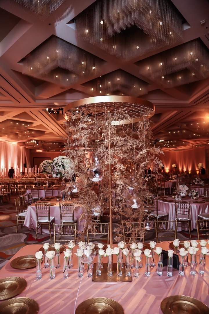 Wedding reception at the newly renovated Hotel Irvine.