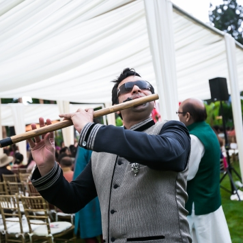 Flutist playing at an Indian wedding