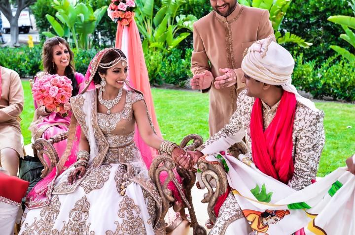Indian bride's makeup