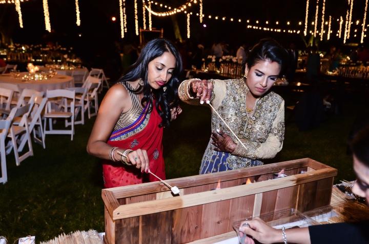 smores as a dessert an Indian wedding reception