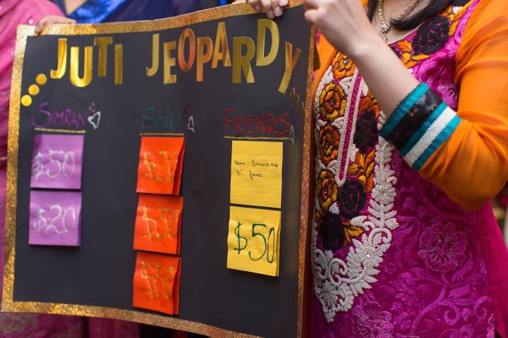 Homemade version of Punjabi jeopardy display