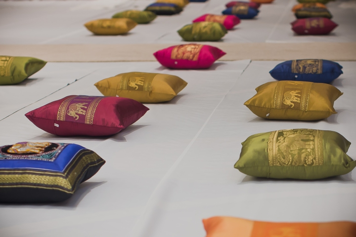 colorful pillow case covers purchased in Thailand