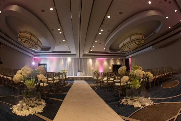 Indian wedding reception ballroom