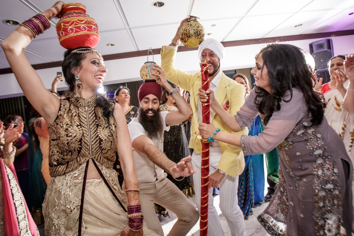 Sikh bride during jaago