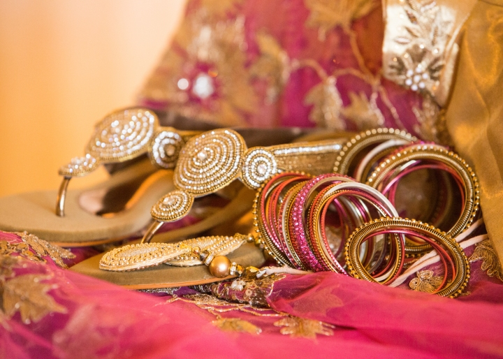 Ashmi-Suraj-Indian-wedding-venue-Hindu-Jain-ceremony-heels-chudiyan-bracelets