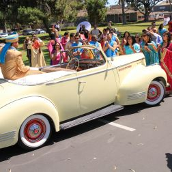 Ashmi-Suraj-Indian-wedding-venue-Hindu-Jain-ceremony-San-Diego-classic-car