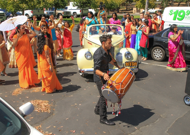 Ashmi-Suraj-Indian-wedding-venue-baraat-Hindu-Jain-San-Diego-dhol