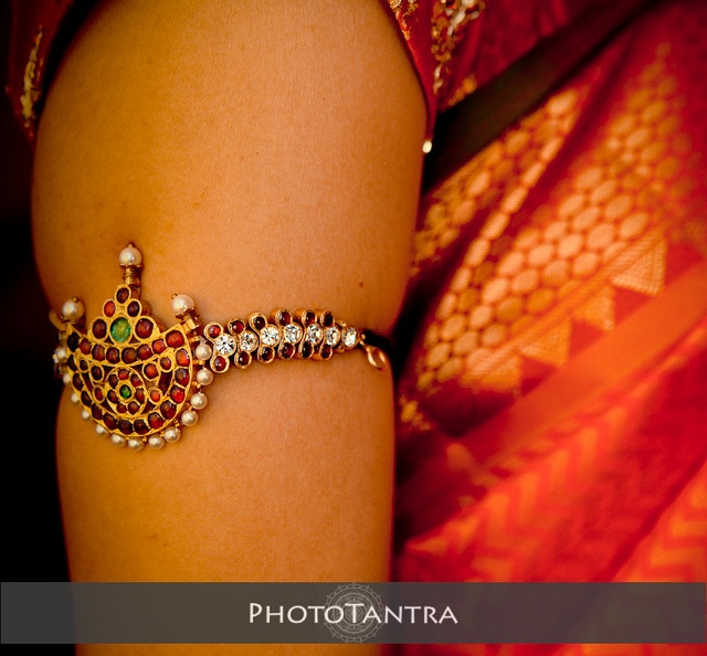 Traditional South Indian style jeweled moon arm band