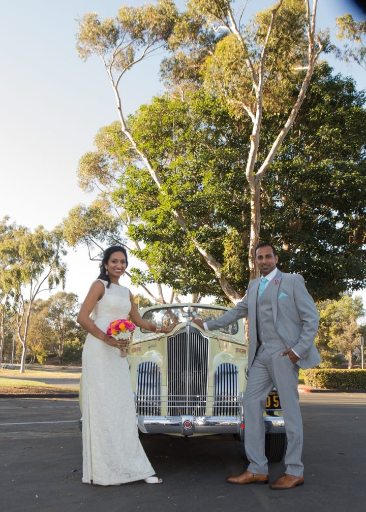 Ashmi-Suraj-Indian-wedding-classic-car-photoshoot-reception-bride-groom