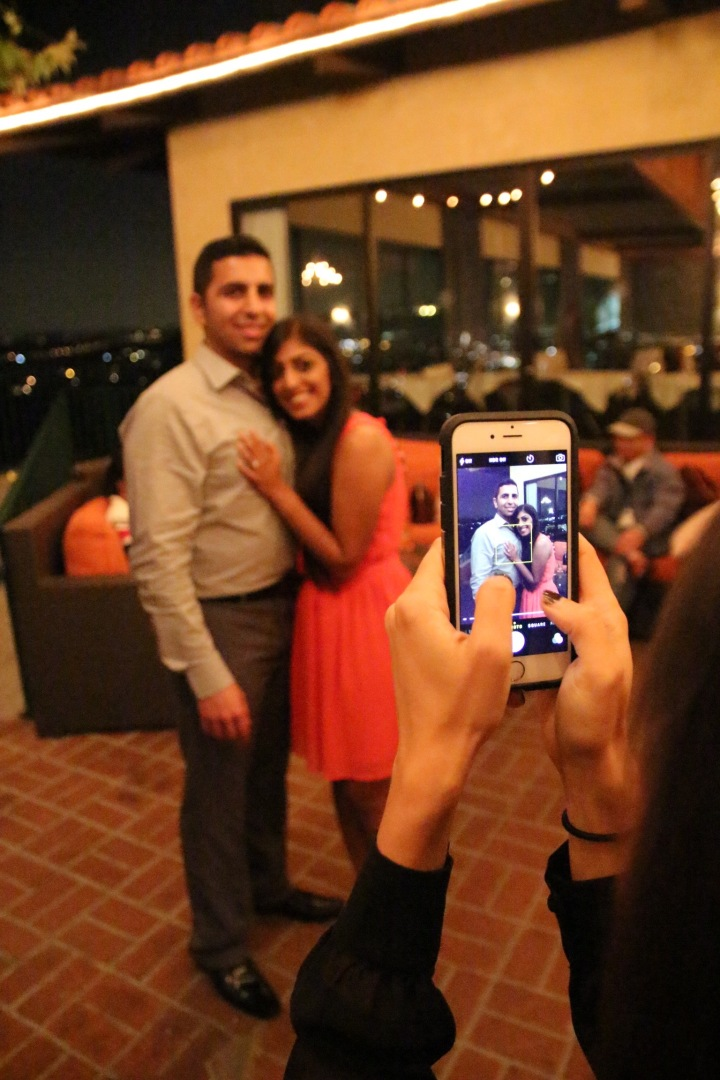 Megha-Kevin-Proposal-Orange-Hill-ring-engagement-Indian-wedding-venue-hug