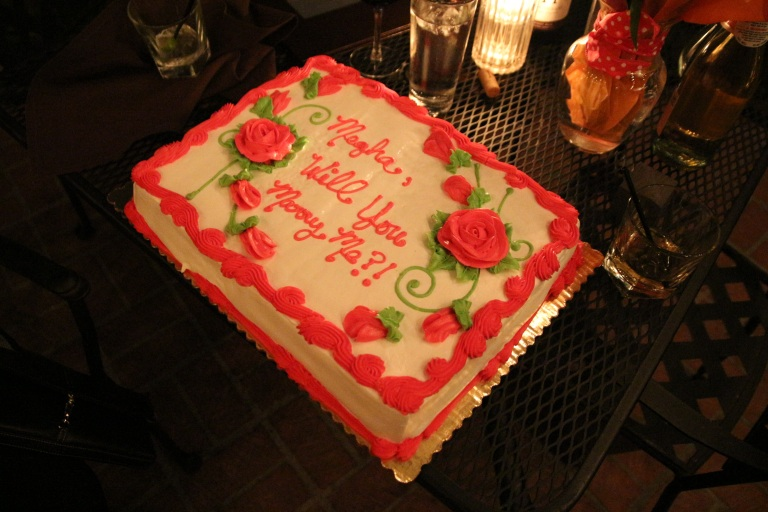 Megha-Kevin-Proposal-Orange-Hill-ring-engagement-Indian-wedding-venue-pop-the-question-cake
