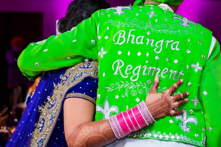 Sonia-Sunny-Indian-wedding-venue-bhangra-regiment